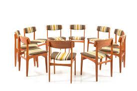 danish dining room table mid century danish dining chairs by thorsø møbelfabrik set of 10