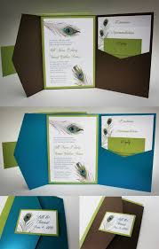 peacock wedding invitations peacock wedding peacock wedding invitation with pocket