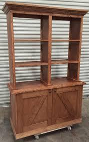 rustic wood display cabinet rustic wood retail store product display fixtures shelving