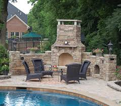 Patio Fireplace Kit by Astounding Outdoor Fireplace Kits Decorating Ideas Images In Deck