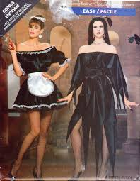 pattern witch costume elvira french maid witch costume patterns ladies sizes 6 to 24