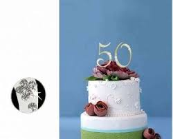 anniversary cake toppers monogram gold rhinestone 50th anniversary cake topper with