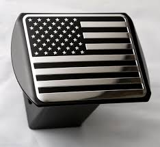 Hitch Flag Usa Us American Flag Metal Emblem On Metal Trailer Hitch Cover