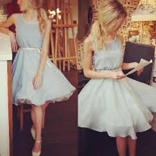belle full circle vintage style bridesmaid dress sky blue with