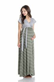 jill maxi maternity dress olive combo bellablumaternity com