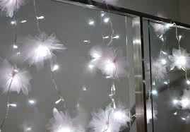 String Of Flower Lights by Pretty Quirky Pants Diy Tulle Flower Fairy Lights