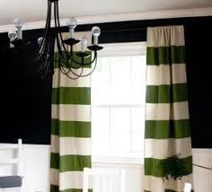 Green Striped Curtains Wide Striped Curtains Foter