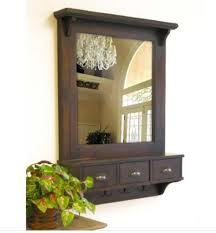 Entryway Furniture Storage Wall Mirror With Drawers And Hooks Entryway Furniture Storage Coat