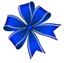blue bows animated glitter bows by di