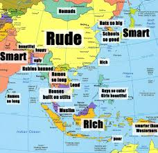map of countries of asia asia map and satellite image throughout countries only