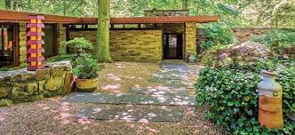 frank lloyd wright inspired home with lush landscaping frank lloyd wright home laurel in brandywine hundred delaware