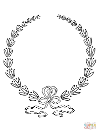 laurel wreath coloring page free printable coloring pages