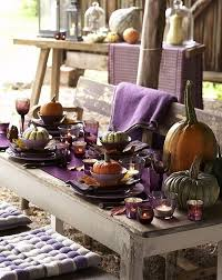Christmas Outdoor Table Decoration Ideas by 16 Thanksgiving Decor Ideas In Purple Outdoor Thanksgiving