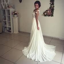 wedding boho dress boho wedding dresses lace appliques chiffon wedding gowns