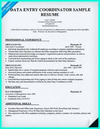 data entry sample resume your data entry resume is the essential marketing key to get the