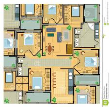 Plan House by Color Plan House Stock Vector Image Of Drawing Dwelling 22179337