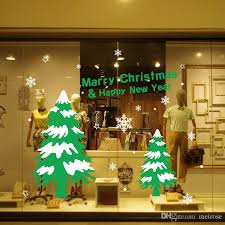 Decorative Window Decals For Home Shop Window Wall Stickers For Decorative Christmas Tree Xmas Home