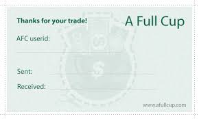 trading cards generator a full cup coupons