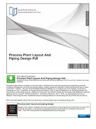 process plant layout and piping design pdf portable document