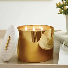 thymes frasier fir thymes frasier fir three wick gold candle