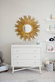 Wall Changing Tables For Babies by Project Nursery Changing Table And Sunburst Mirror Baby Girl