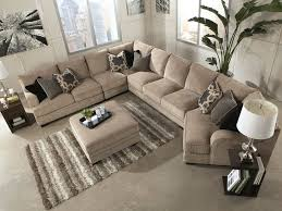 Beige Leather Living Room Set Sorento 5pcs Oversized Modern Beige Fabric Sofa Sectional