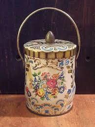 Antiques Decorative Antiques Decorative Tins Vintage Singer Sewing Machine Tin Can