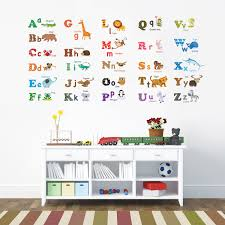 alphabet animals wall stickers alphabet animals wall stickers large