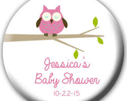 owls baby shower pink owl baby shower etsy