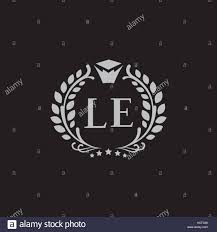 l e letters vector business logo sign symbol monogram icon