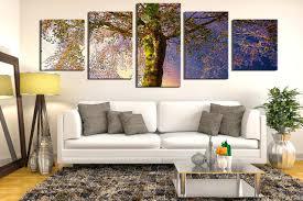 wall ideas canvas birch tree 3 panels wall decor family tree