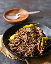 Balsamic Roast Beef In Oven Slow Cooker Shredded Italian Beef The Chunky Chef