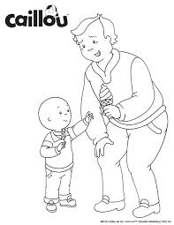 caillou coloring pages 1 images reverse