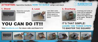 how to go about building a house faq s on how to build a card house and kardtects building cards