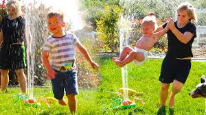 backyard waterpark sprinkler play youtube