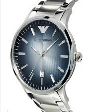 armani stainless steel bracelet images Armani classic ar2472 blue mens 39 steel sport watch jpg