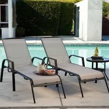 Patio Chaise Lounges Coral Coast Metropolitan Poolside Chaise Lounge Set Of 2