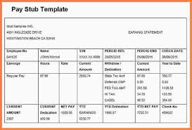 pay stub template word 3 check stub templates u2013 free samples