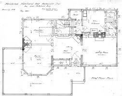 first floor plan drawing lon mrs mitchell house house plans 21741