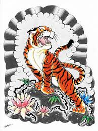 traditional japanese tiger designs