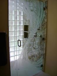etched glass shower door designs cyclone custom 3d glass shower doors sans soucie