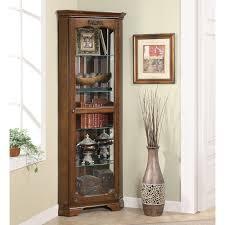 Images Of Curio Cabinets Southern Enterprises Machellen Mahogany Lighted Corner Curio
