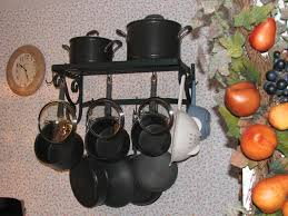 decor stunning wall mount pot rack for kitchen furniture ideas