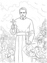 Christianity Bible Saints St Francis Xavier Saints Coloring Pages Saints Colouring Pages