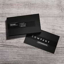 stylish premium black corporate business card template with clean