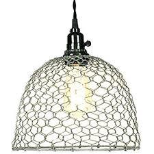 Pendant Light Wire Chicken Wire Dome Pendant Light In Primitive Rust Finish Ceiling