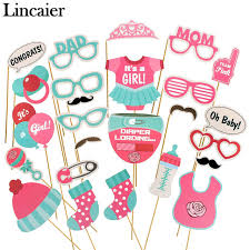 photo booth supplies lincaier 25 pieces baby shower photo booth props its a boy girl