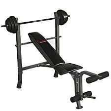 weight and bench set amazon com sunny health fitness weight bench set black
