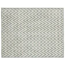 Black And White Zig Zag Rug Pottery Barn Hayden Zig Zag Rug Porcelain Blue Polyvore
