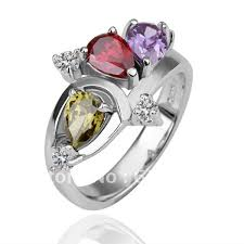 diamond prices rings images Fashion 18k white gold ring multicolour diamond rings factory jpg